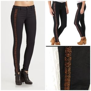 Rag & Bone Bengal Midnight embroidered jeans 27